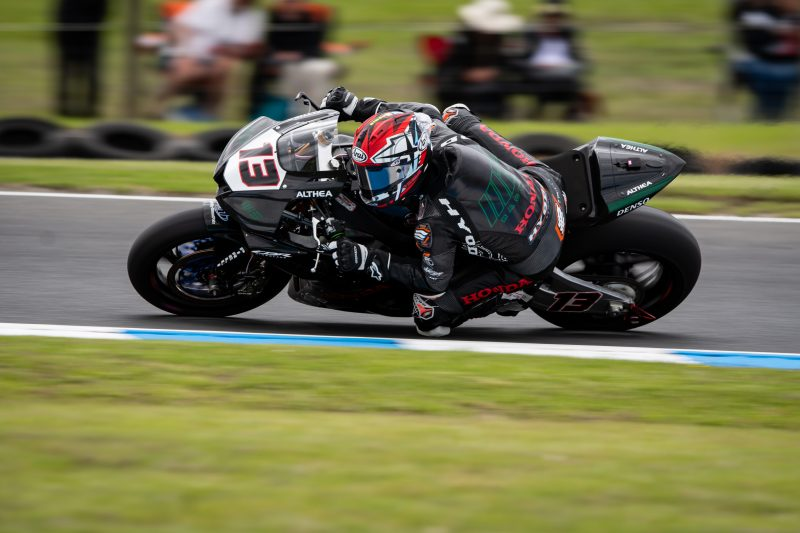A challenging day for the MIE Racing Althea Honda team in Australia