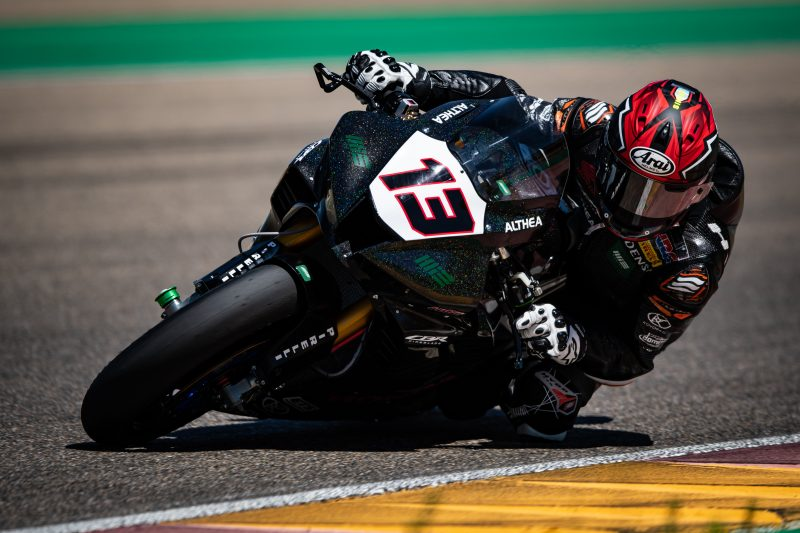 The MIE Racing Althea Honda Team back in action at Aragón with Takumi Takahashi