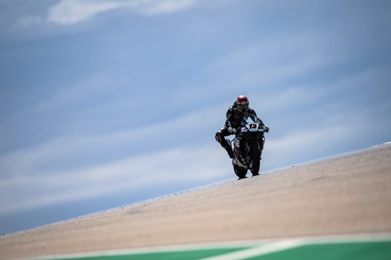 MIE Racing Althea Honda in the points zone at Aragón