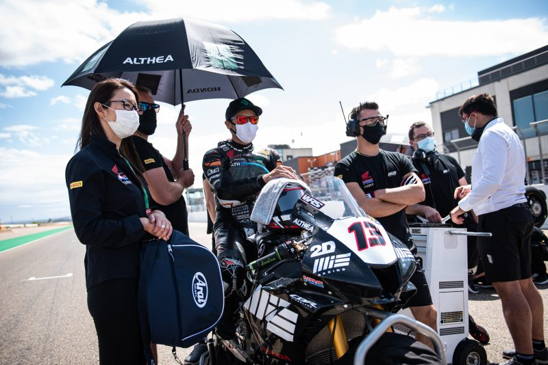 MIE Racing Althea Honda completed round four of the Superbike World Championship at Aragón