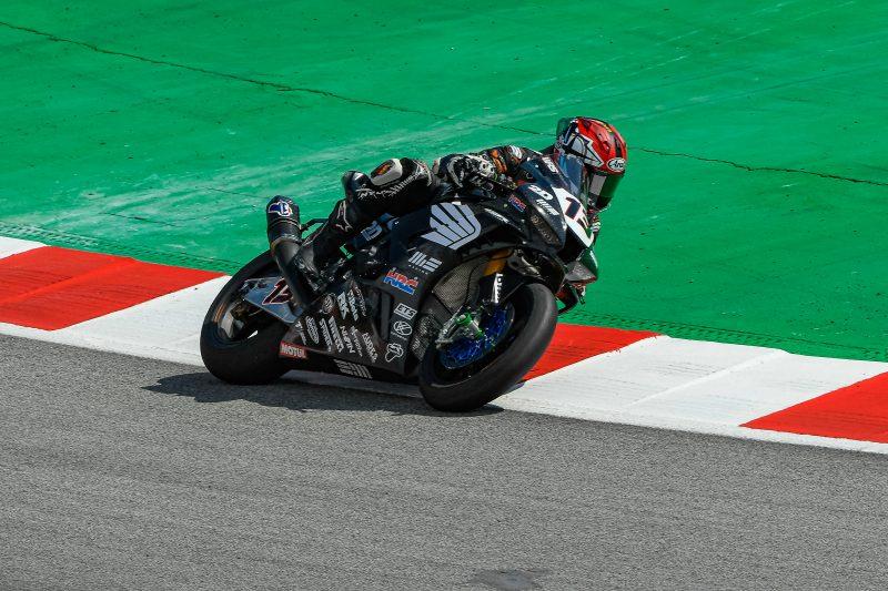 MIE Racing Honda completes race 1 at Barcelona