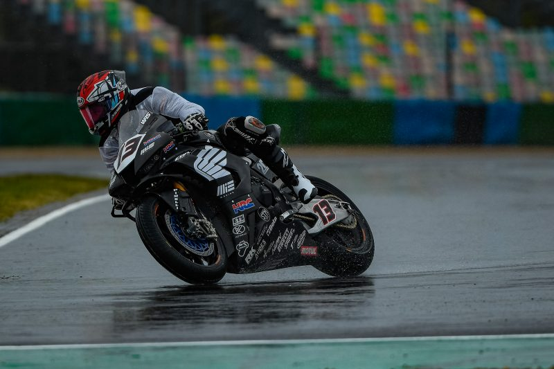 MIE Racing Honda takes on the rain at Magny-Cours