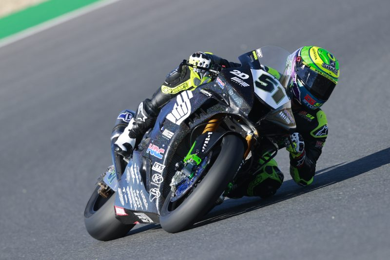 Takumi Takahashi and Eric Granado in action at Estoril for day one of WorldSBK round 8 Estoril