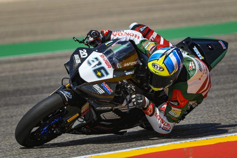 MIE Racing Honda Team hard at work at Motorland Aragón