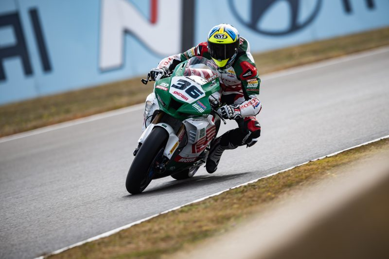 Mercado takes on the mixed conditions of Magny-Cours