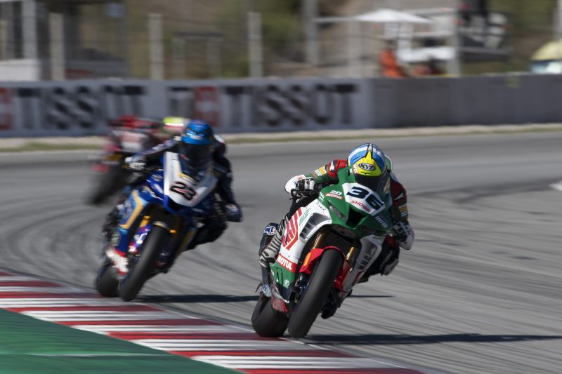 A strong top ten Superpole race result for the MIE Racing Honda Team at Barcelona