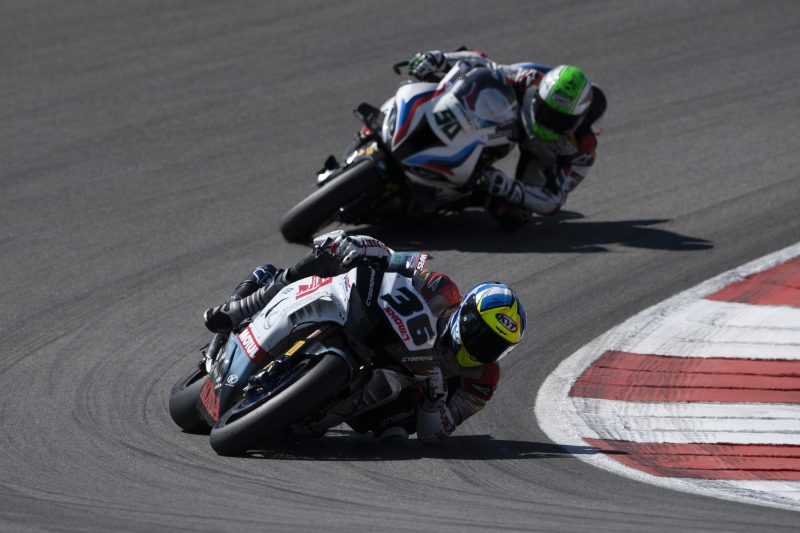 Eleventh for Mercado in both of the day's WorldSBK races at Portimão